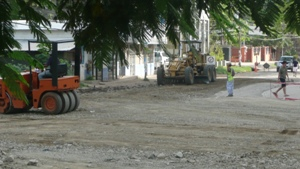 Work has commenced on the road to Langosta